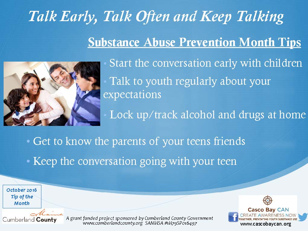 Start Conversations Early About Drugs >> Monthly Tips Archives Page 4 Of 5 Casco Bay Can Casco Bay Can